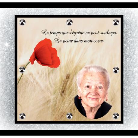 Plaque Funéraire  Carré 29x29cm
