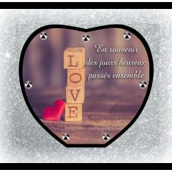 Plaque Funéraire Coeur 29cmØ